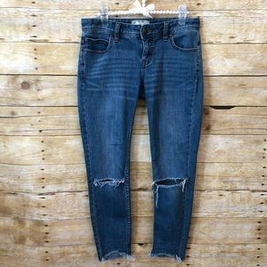 Free People Raw Hem Ripped Skinny Jeans Size 26